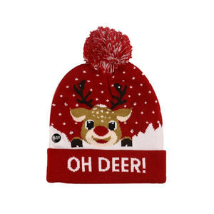 Ugly Christmas LED Beanie-Next Deal Shop-Oh Deer-Next Deal Shop