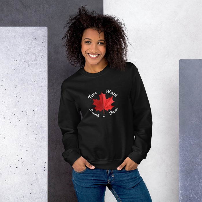 True North Strong & Free Unisex Sweatshirt - yegco