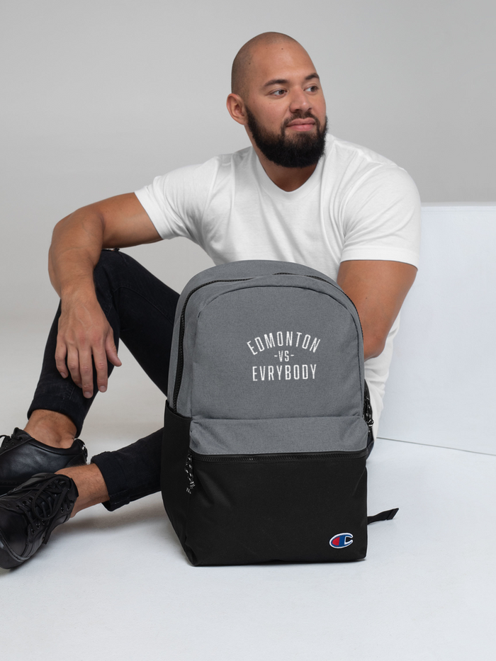 Edmonton Vs Evrybody Embroidered Champion Backpack - yegco
