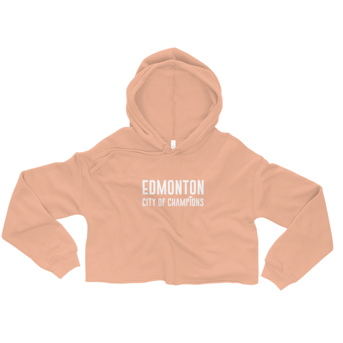 Edmonton City of Champions Crop Hoodie - yegco
