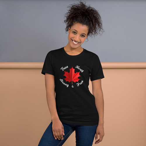 True North Strong & Free Unisex T-Shirt - yegco