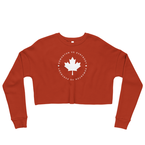 Edmonton Vs Evrybody Crop Sweatshirt - yegco