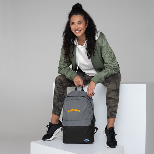 Edmonton Alberta Embroidered Champion Backpack - yegco