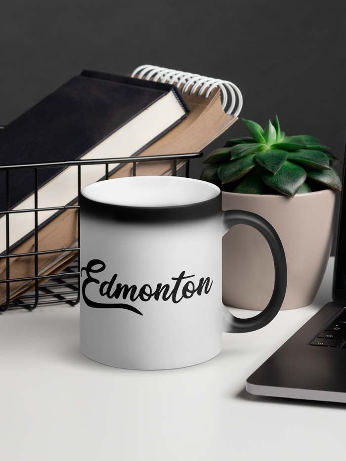 Edmonton Matte Black Magic Mug - yegco