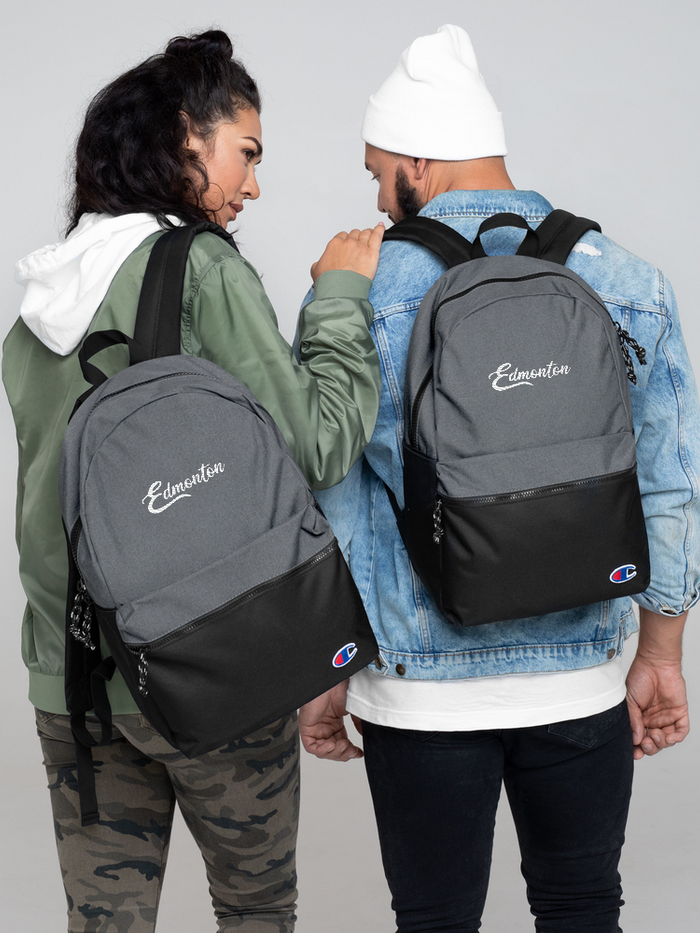 Edmonton Embroidered Champion Backpack - yegco
