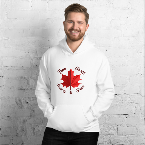 True North Strong & Free Hoodie - yegco