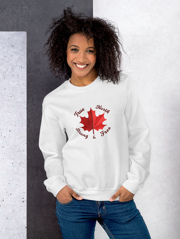 True North Strong & Free Unisex Sweatshirt - Yeg & Co
