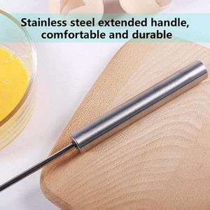 Stainless Steel Semi-Auto Egg Beater
