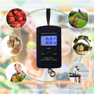 Mini Digital Hanging Scale  (Up to 88 Pounds) (Lbs & Kg Unit)