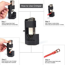 Load image into Gallery viewer, Cable Lug Hammer Crimper