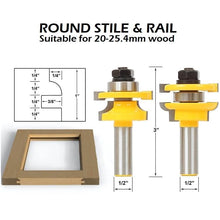 Load image into Gallery viewer, Stile & Rail Router Bit