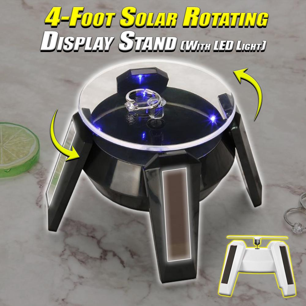 4-Foot Solar Rotating Display Stand (With LED Light)