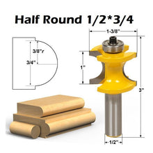Load image into Gallery viewer, Half Round Router Bit (Bull Nose)
