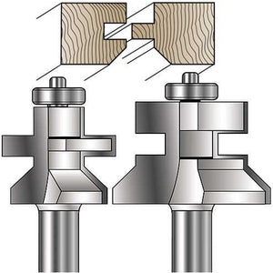 V-Notch Tongue & Groove Router Bits