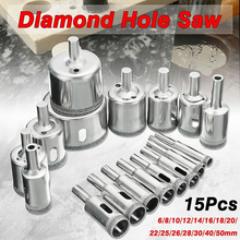 Load image into Gallery viewer, 15pcs Drill Bit Hole Saw Set (For Ceramic, Porcelain, Glass, Marble)