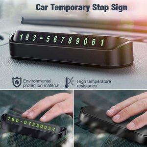 Temporary Car Parking Phone Number Card