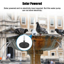 Load image into Gallery viewer, Solar Power Water Fountain