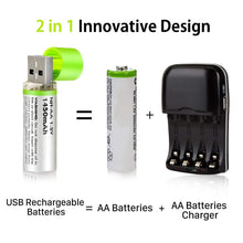 Load image into Gallery viewer, USB Rechargeable Batteries