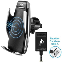 Load image into Gallery viewer, Automatic Clamping Wireless Car Charger Mount 360 Degree Rotation