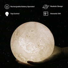 Load image into Gallery viewer, 3D Moon Lamp
