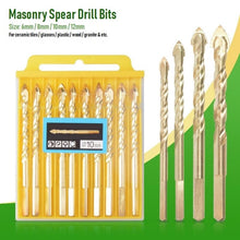Load image into Gallery viewer, Masonry Spear Drill Bits (10pcs)