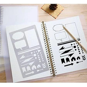 Creative Stencil Art Template (3Pcs)