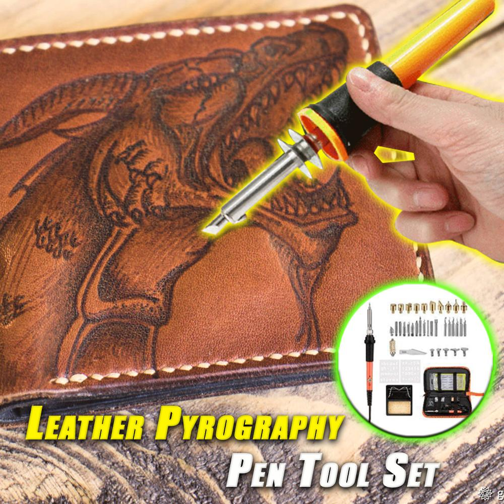Leather Pyrography Pen Tool Set