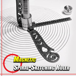 Magnetic Spiral-Sketching Ruler