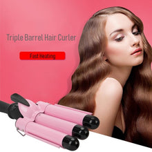 Load image into Gallery viewer, Triple Barrel Hair Curler