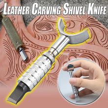 Load image into Gallery viewer, Leather Carving Shivel Knife