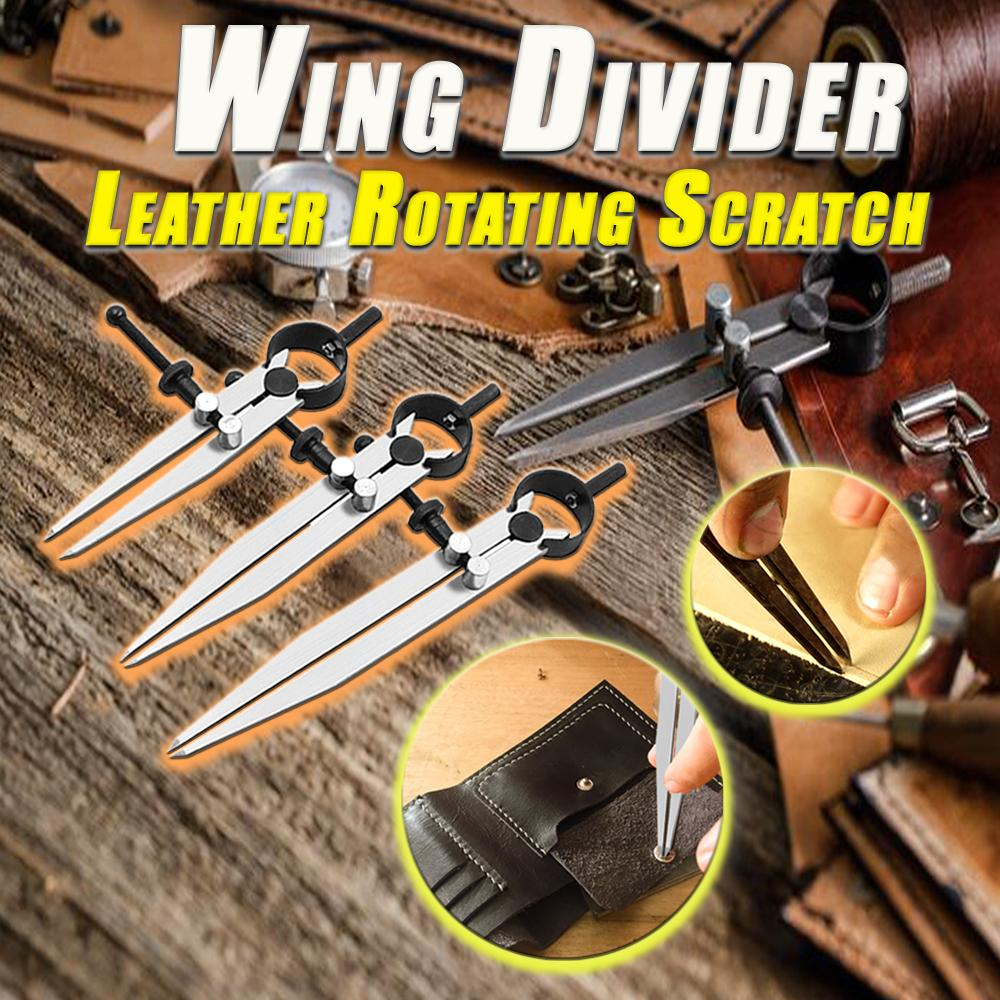 Wing Divider Leather Rotating Scratch