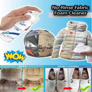 No-Rinse Fabric Foam Cleaner