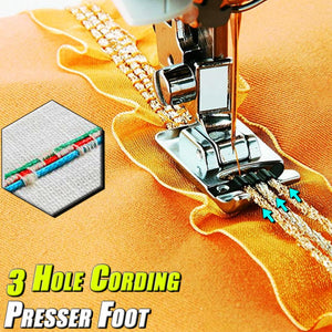 3 Hole Cording Presser Foot
