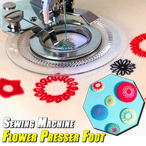 Sewing Machine Flower Presser Foot