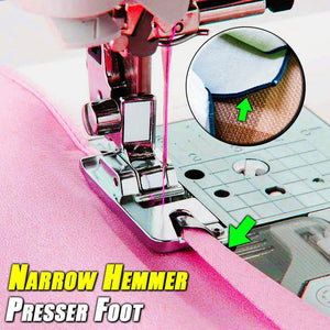 Narrow Hemmer Presser Foot