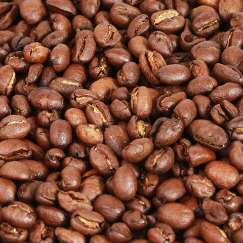 1 kilo black bag of Coffee Care's Kenya Peaberry Coffee Beans. Freshly roasted Kenyan Coffee