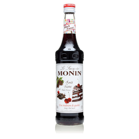 A 70cl glass bottle of MONIN Black Forest (Foret Noire) syrup