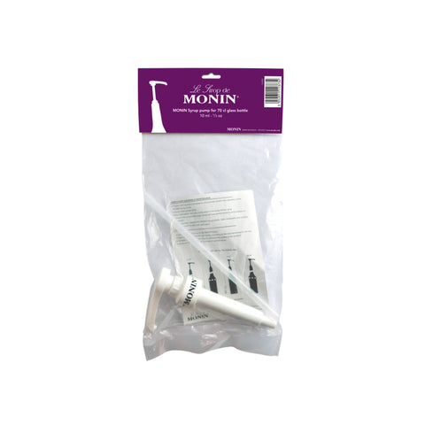 Clear plastic bag with white plastic 10ml MONIN syrup pump for 70cl MONIN Syrup bottle