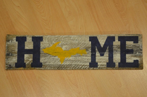 Upper Peninsula Home Sign - Reclaimed pallet wood