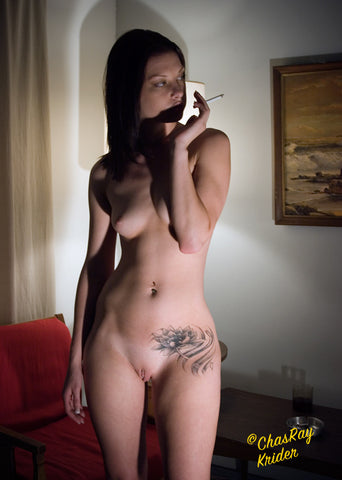 smoking nude, #1