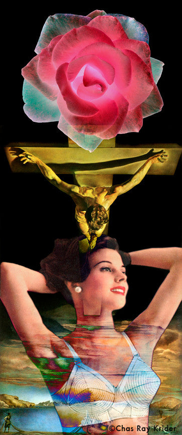 Collage: Mother and Son: Homage to Dali