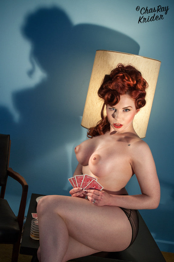 Ludella Hahn with Cards