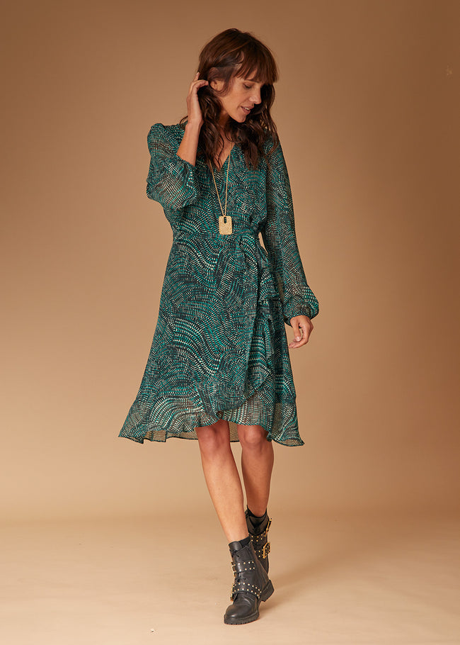 Robe Portefeuille Manches Longues Prairie Robes Femme La Fee Maraboutee