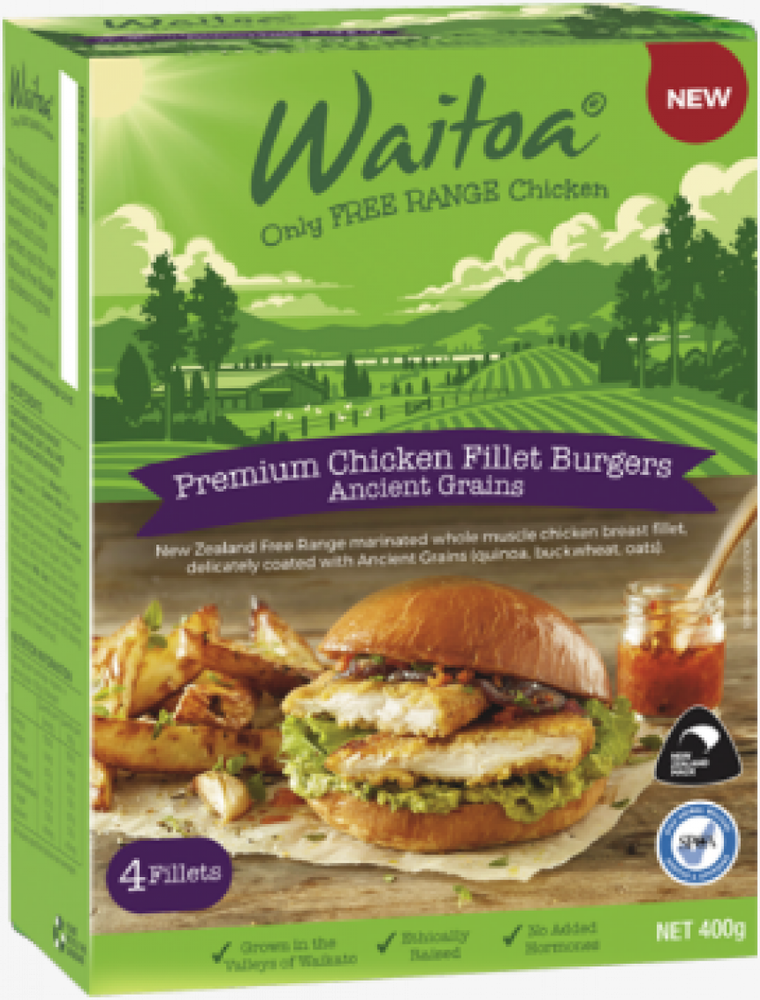 New Zealand Free Range Chicken Burger (4pcs)