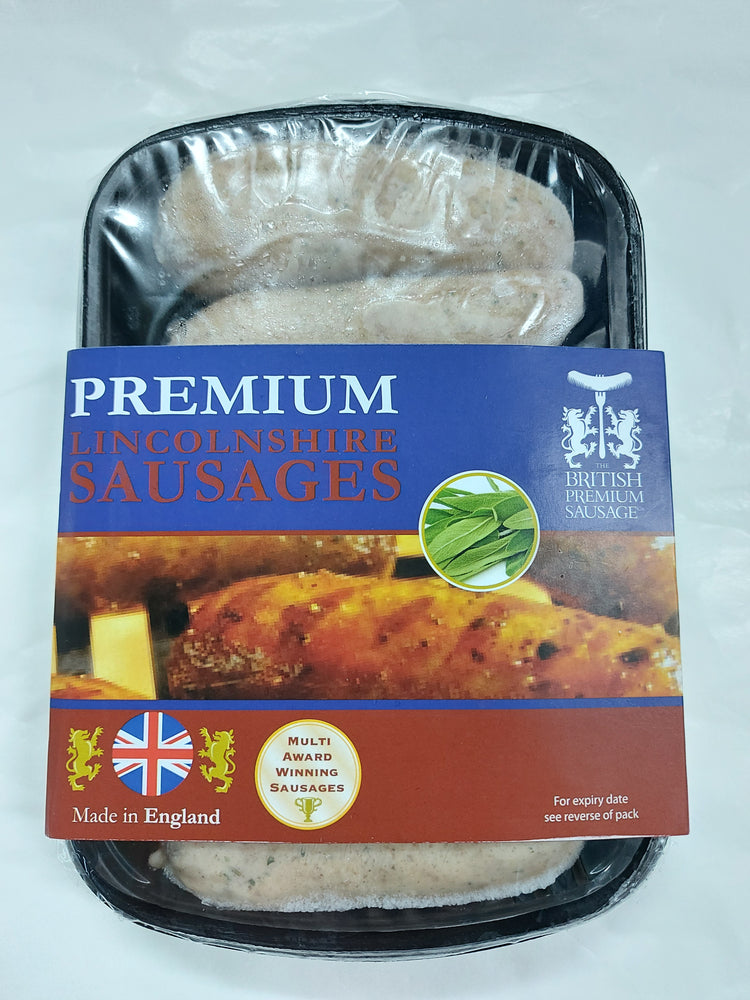 UK British Premium Natural Skin Lincolnshire Sausage (6 pcs)