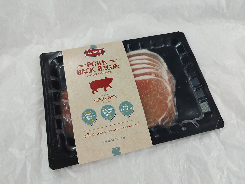 Spanish Nitrite Free Natural Unsmoked back Bacon (200g)