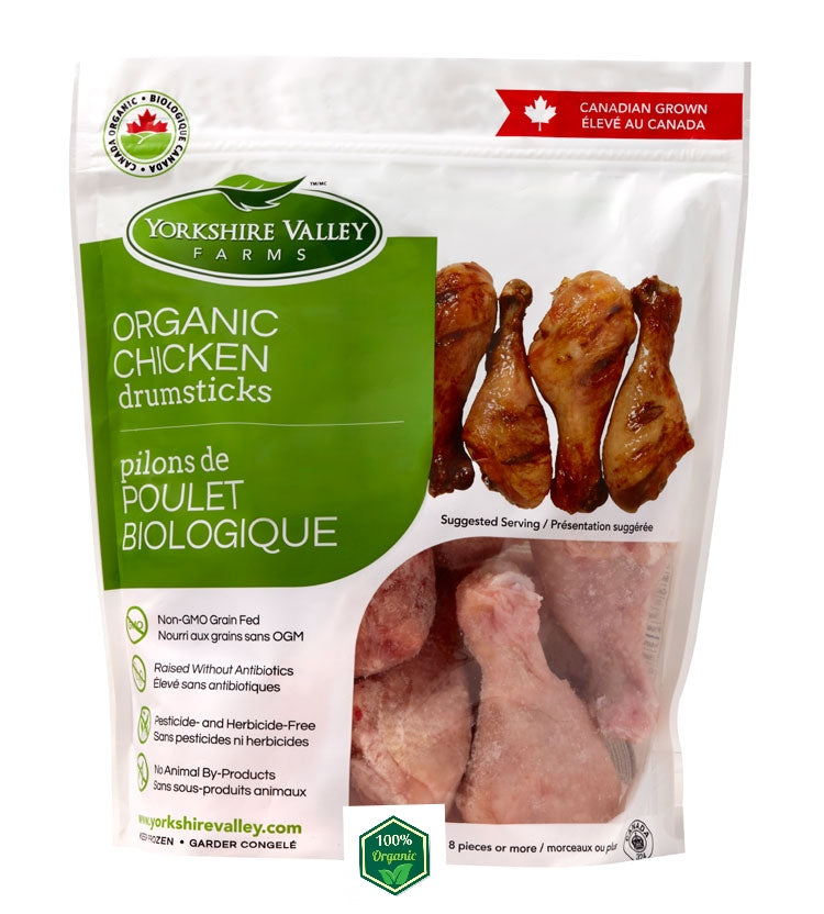 Canadian Yorkshire Valley Farms Organic Chicken Drumsticks (700g)