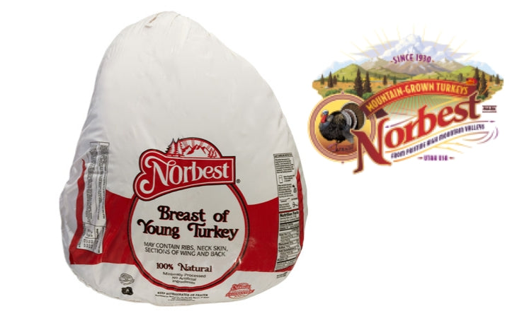 USA Norbest 100% Natural Turkey Breast Bone In (8-10 lbs)