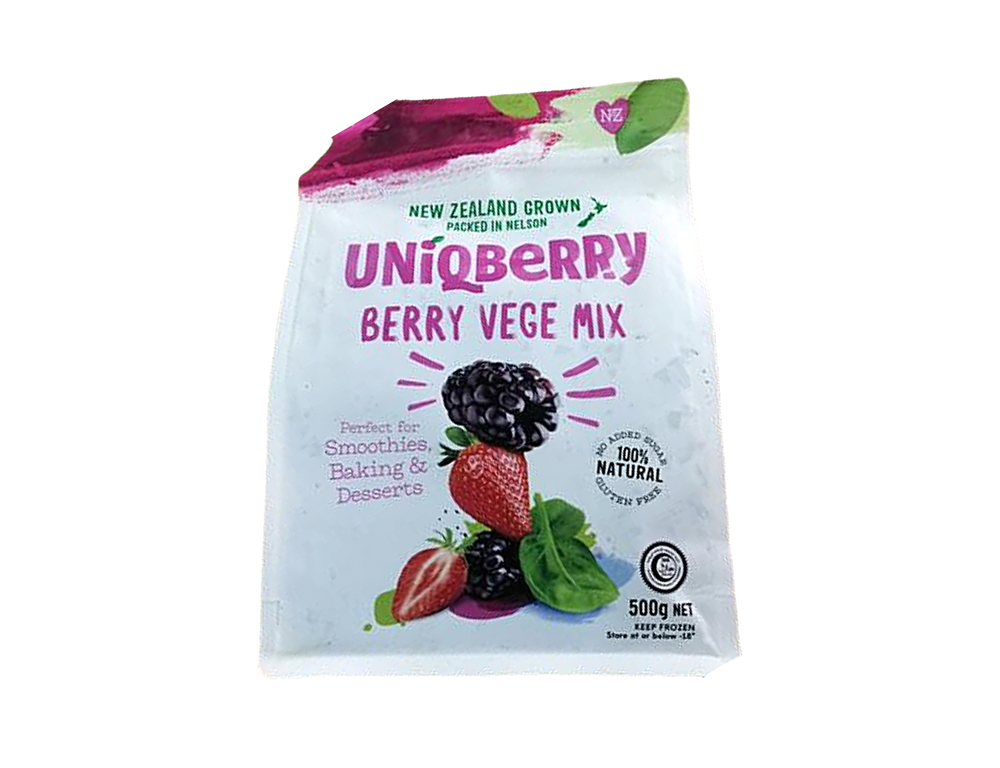 New Zealand Boysenberry, Strawberry & Spinach Mix (500g)