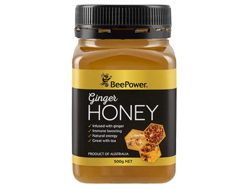 Australian Bee Power Ginger Honey (500g)